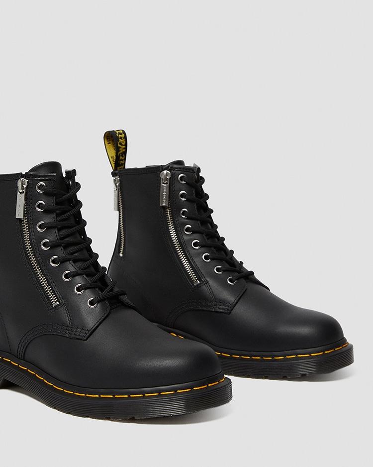 Dr. Martens 1460 ZIP 8 ホール ブーツ BLACK ディティール画像3