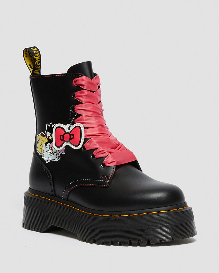 JADON HELLO KITTY AND FRIENDS 8 ホール ブーツ(BLACK)